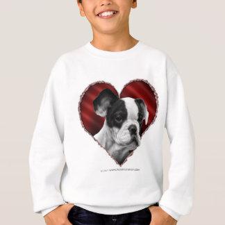 Sweatshirt Bouledogue français avec le coeur