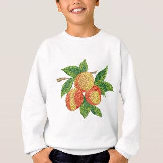 Sweatshirt branche de pêche, imitation de broderie