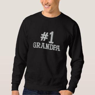 Sweatshirt Brodé #1 broderie de grand-papa du numéro un