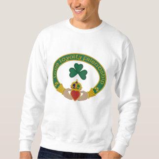 Sweatshirt Brodé Anneau de Claddagh d'Irlandais