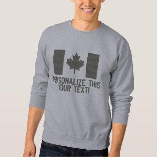 Sweatshirt Brodé Broderie canadienne personnalisée CANADA de