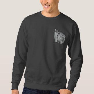 Sweatshirt Brodé Paires de profil de cheval