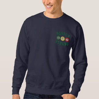 Sweatshirt Brodé Requin fort de piscine de billards de Boston