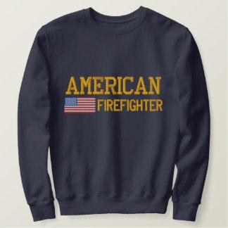 Sweatshirt Brodé Sapeur-pompier de drapeau américain brodé