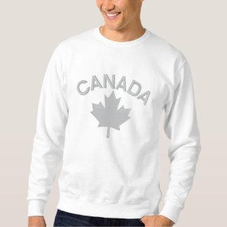 Sweatshirt Broderie canadienne CANADA de feuille d'érable