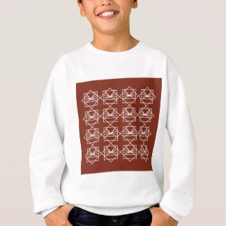 Sweatshirt Brun blanc d'ethno d'éléments de conception