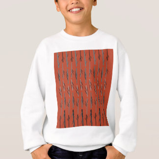 Sweatshirt Brun de bambou d'ethno de conception