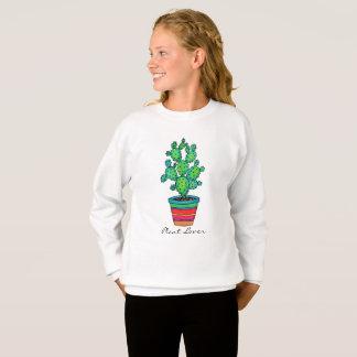 Sweatshirt Cactus magnifique d'aquarelle dans le beau pot