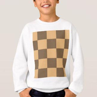 Sweatshirt Cadeau pointu de damier dans le brun et le tan.
