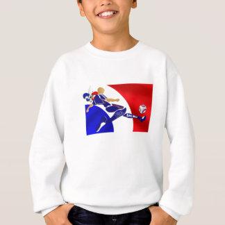 Sweatshirt Cadeaux français de volée du football de Bleus