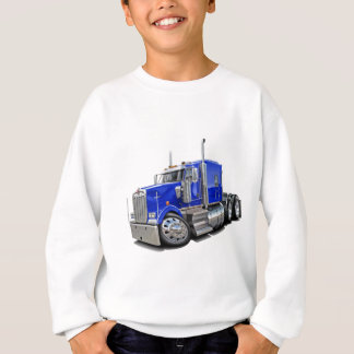 Sweatshirt Camion de bleu de Kenworth w900