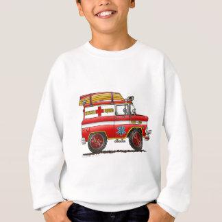 Sweatshirt Camion de pompiers de Van Ambulance de délivrance