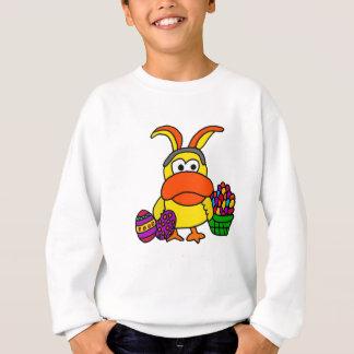 Sweatshirt Canard jaune mignon avec les oreilles et le panier