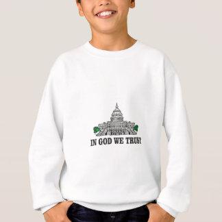 Sweatshirt capital dans un dieu que nous faisons confiance