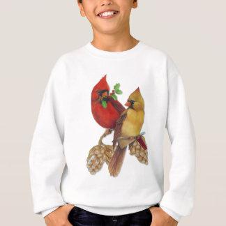 Sweatshirt Cardinaux pin et houx d'hiver