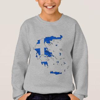 Sweatshirt Carte de drapeau de la Grèce