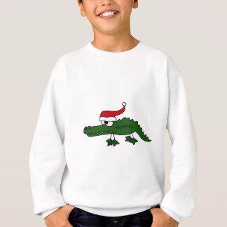 Sweatshirt Casquette de port de Noël d'alligator mignon