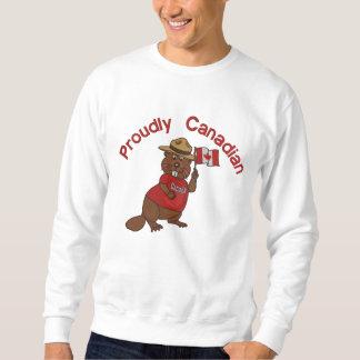 Sweatshirt Castor fièrement canadien