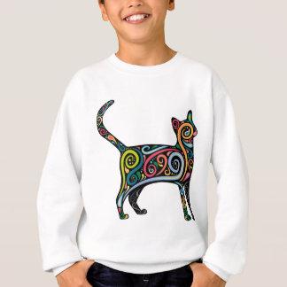 SWEATSHIRT CAT COLORÉ