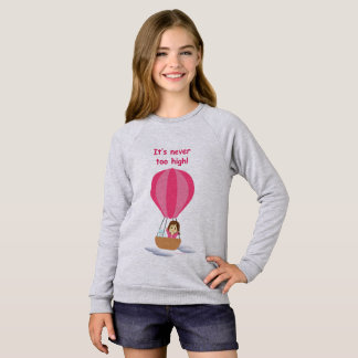 Sweatshirt « Cathy and the Cat » en globe (avec texte)