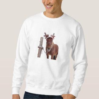 Sweatshirt Cerfs communs de cheval - cheval de Noël - cheval