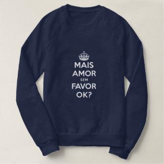 Sweatshirt Chandail Bleu Plus Amour Sans Faveur
