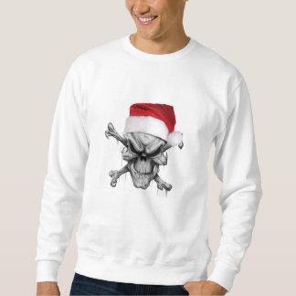Sweatshirt Chandail de crâne de Noël du père noël