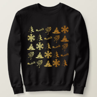 Sweatshirt Chandail d'or de Noël d'icônes