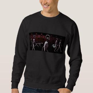 Sweatshirt Chandails de minuit de balade de squelettes de