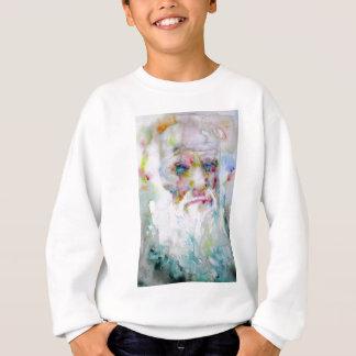 Sweatshirt Charles Darwin - portrait d'aquarelle