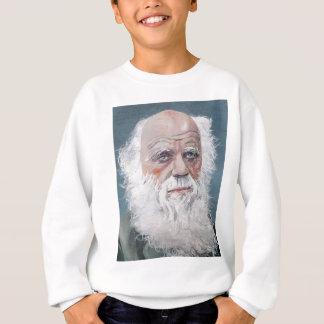 Sweatshirt Charles Darwin - portrait d'huile