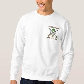 Sweatshirt Chasse et pêche - ajoutez votre texte - fête des