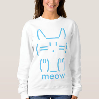 Sweatshirt Chat d'ASCII