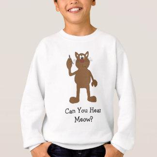 Sweatshirt Chat de bande dessinée avec le téléphone portable