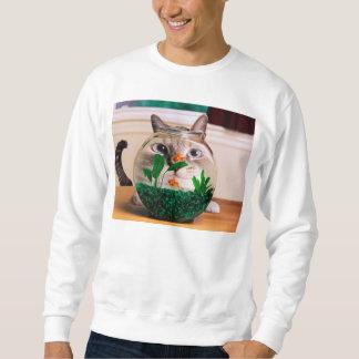 Sweatshirt Chat et poissons - chat - chats drôles - chat fou