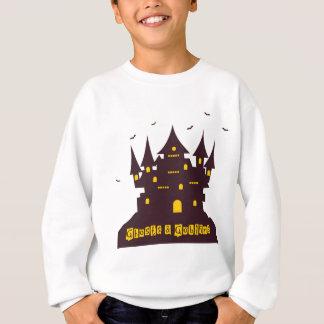 Sweatshirt Château de Halloween avec des chauves-souris