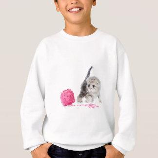 Sweatshirt Chaton drôle adorable Low Poly mignon