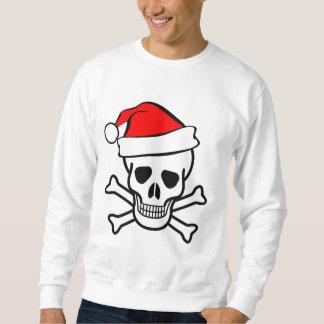 Sweatshirt chemise de crâne de père Noël