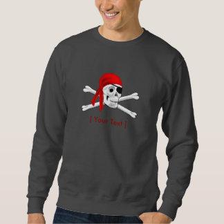Sweatshirt Chemise de crâne de pirate longue et de douille