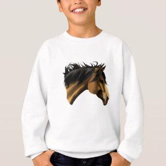 Sweatshirt Chemise de visage de cheval de peau de daim