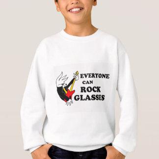 Sweatshirt Chemise d'oiseau en verre de Rockin