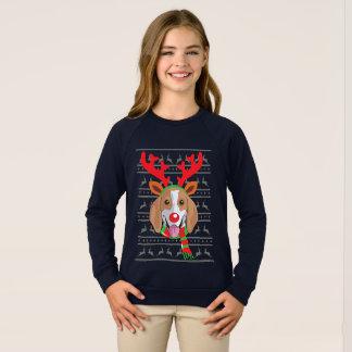 Sweatshirt Chemise drôle de cadeau de Noël de renne de