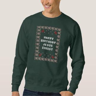 Sweatshirt Chemise laide de Noël de Jésus-Christ de joyeux