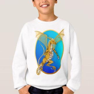 Sweatshirt Chemise ornée de bijoux d'ovale de dragon d'or