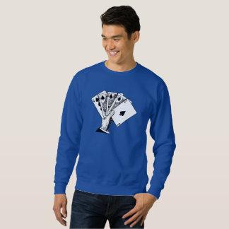 Sweatshirt Chemises vintages d'illustration de quinte royale