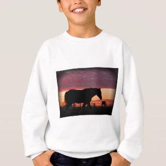 Sweatshirt Cheval au coucher du soleil