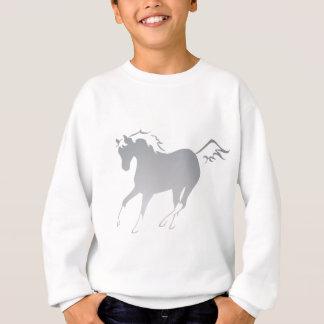Sweatshirt Cheval brun grisâtre
