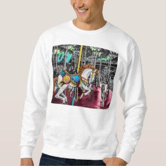 Sweatshirt Cheval coloré de carrousel au carnaval