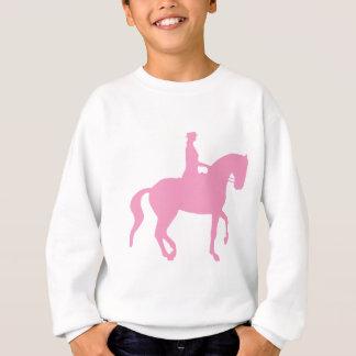 Sweatshirt Cheval de dressage de Piaffe et cavalier (rose)