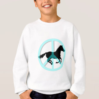 Sweatshirt Cheval frais de symbole de paix